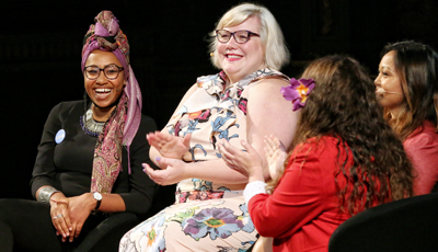 Image: Yassmin Abdel-Magied and Lindy West - photo by Prudence Upton