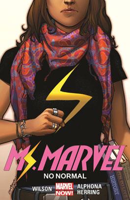 Ms Marvel No Normal cover of girl with clenched fist